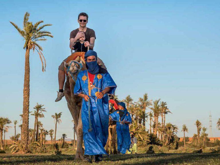 Camel riding in the desert of Marrakech