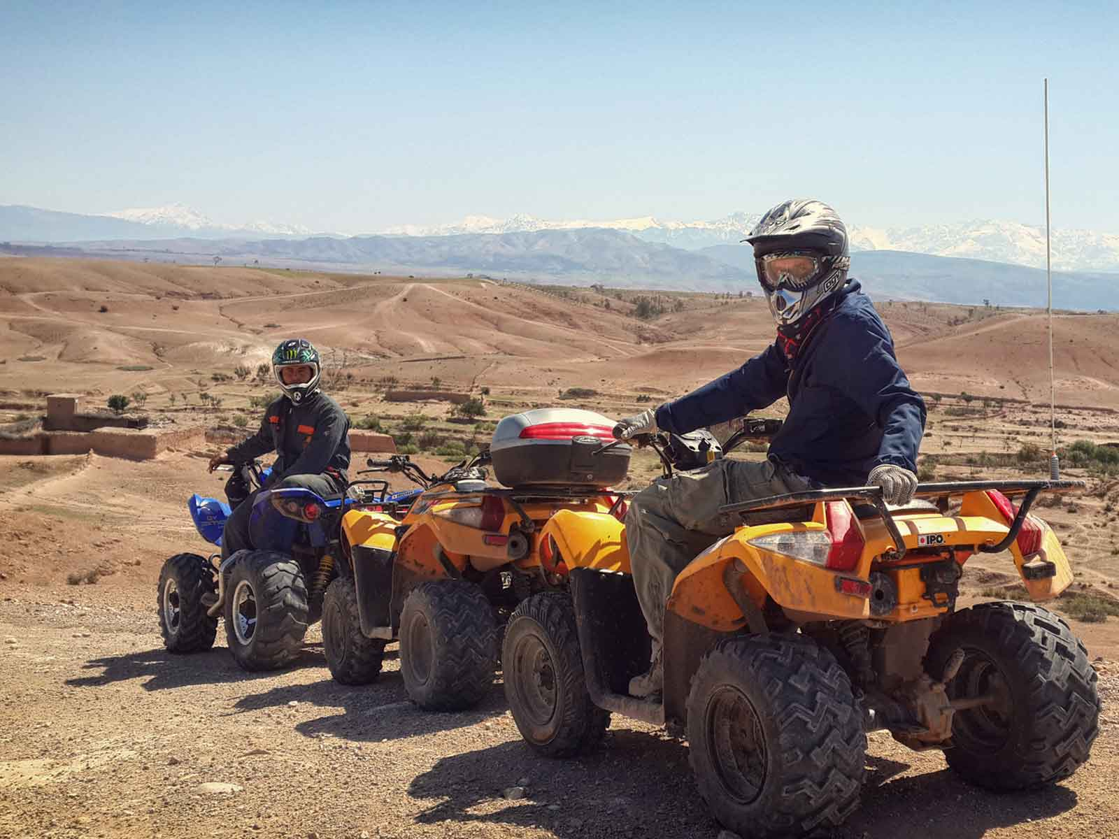 Palmeraie quad biking Marrakech