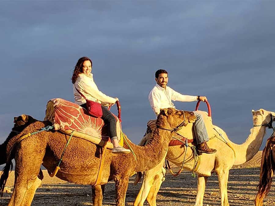 Agafay desert sunset camel ride