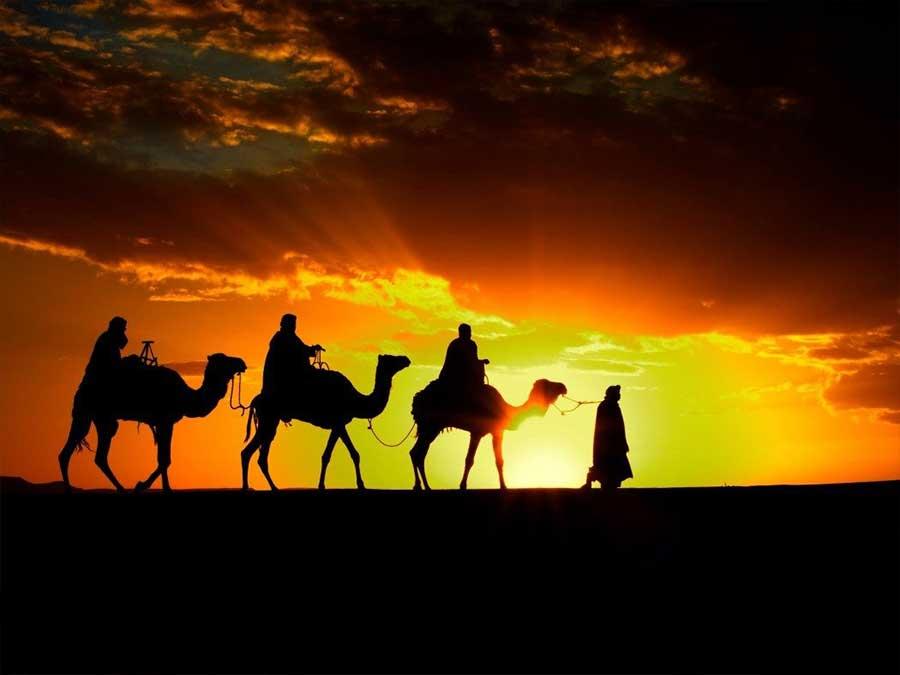 Sunset camel trek Agafay desert