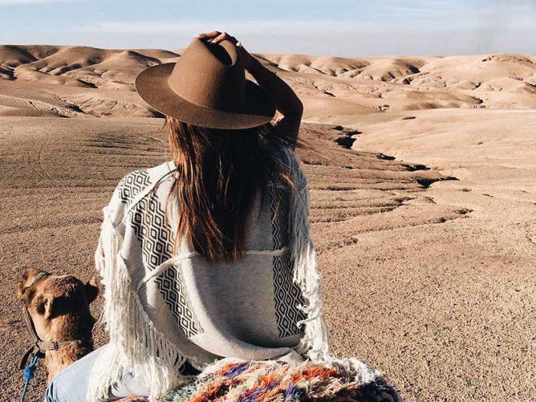 Marrakech to Agafay desert sunset camel ride