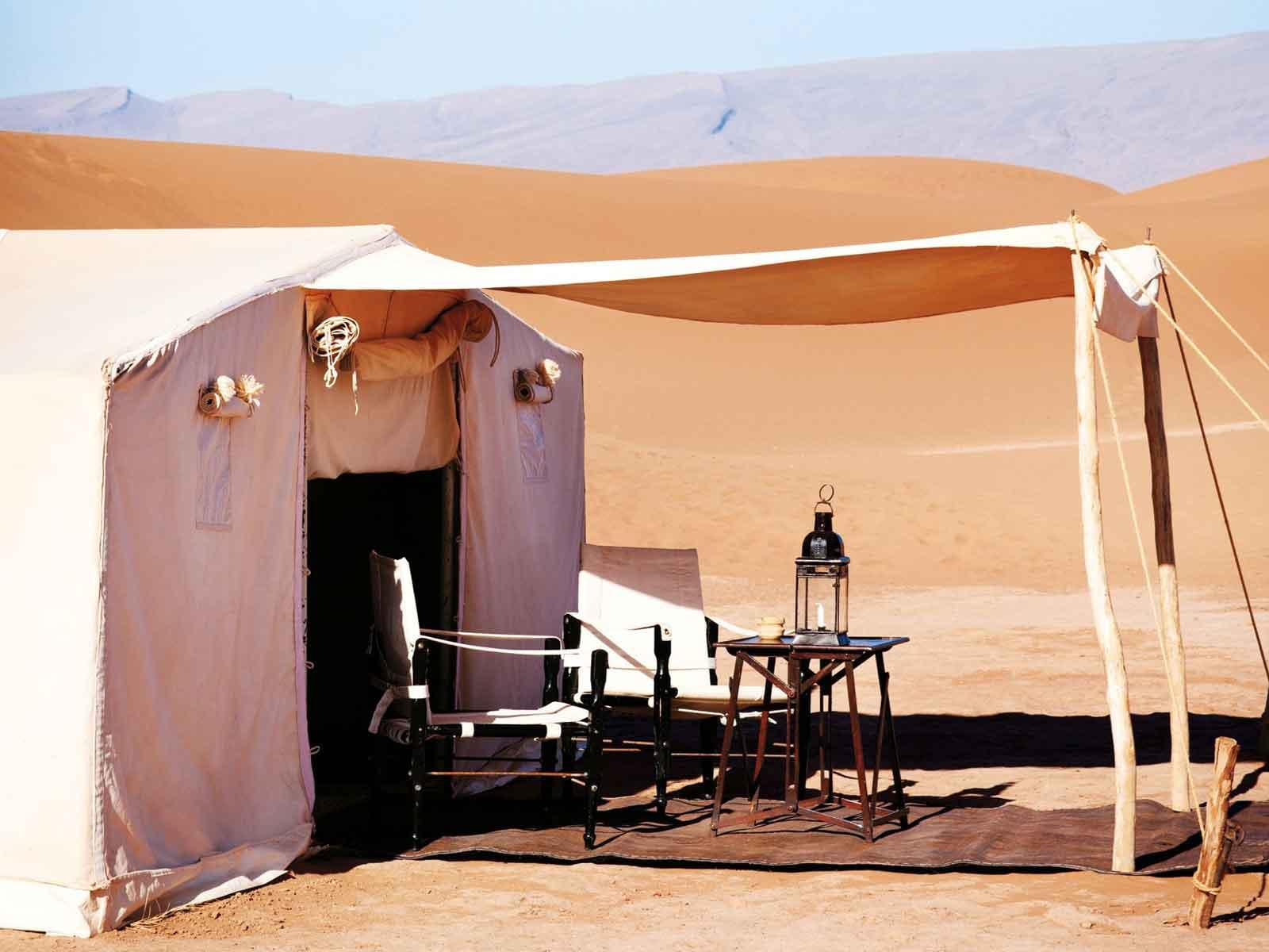 luxury desert camp erg chigaga