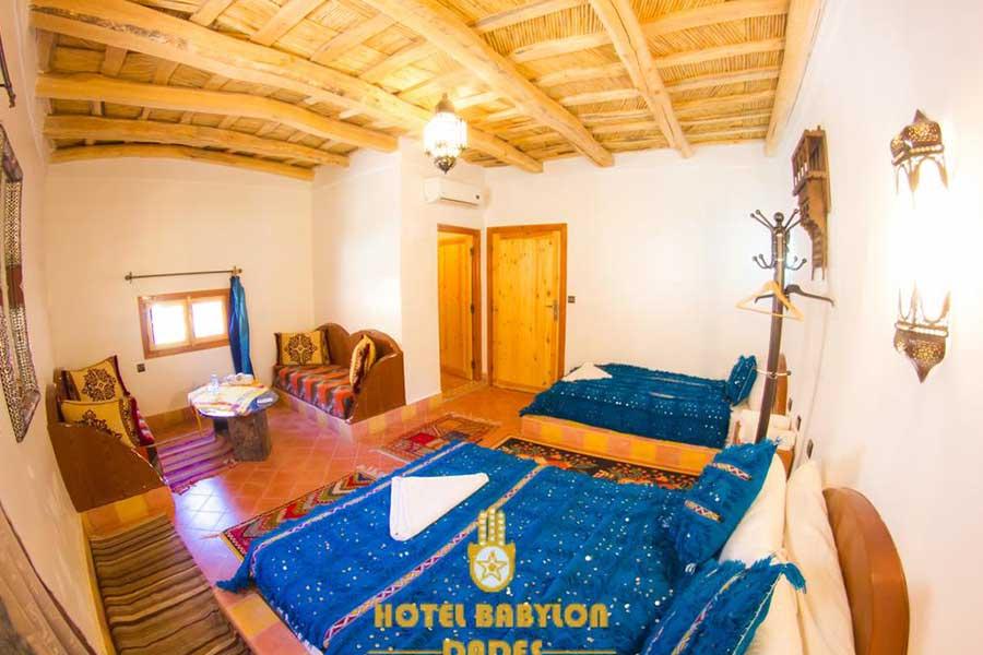 Marrakech to Merzouga desert trip hotel Babylon