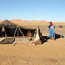 Berber noamds in Morocco Sahara desert