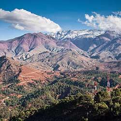 Cross the high Atlas Mountains on the way to Morocco Sahara desert