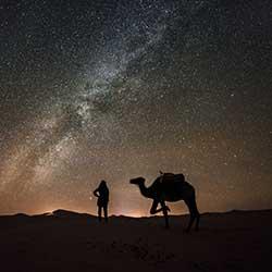 Star canstellation Erg Chebbi Morocco desert